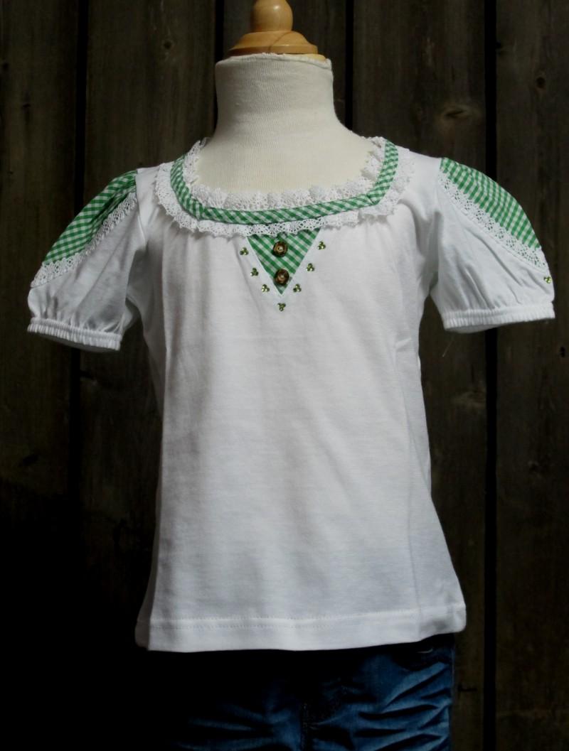 St. Peter Trachtenshirt Kindershirt T-Shirt weiß - grün  Gr. 68 - 98 – Bild 2