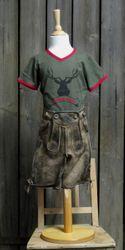 """St. Peter Trachtenshirt Kindershirt T-Shirt Oliv """"Naturbursche"""" Gr. 98 - 128 001"""