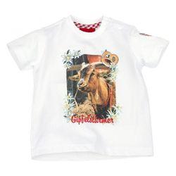 Bondi Shirt Trachtenshirt  T-Shirt weiß Gr. 62 - 110 Ziegenbock 001