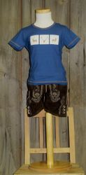 """St. Peter Trachtenshirt Kindershirt T-Shirt jeansblau """"Hirsch """" Gr. 92 - 164 001"""
