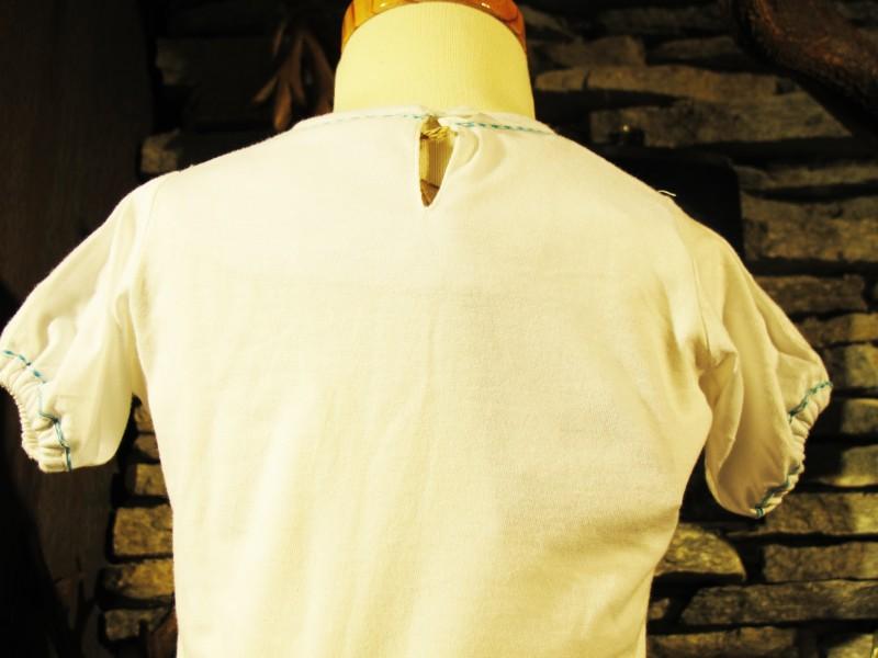 Spieth Wensky Shirt Trachtenshirt  T-Shirt weiß / türkis Gr. 86 - 128 – Bild 3
