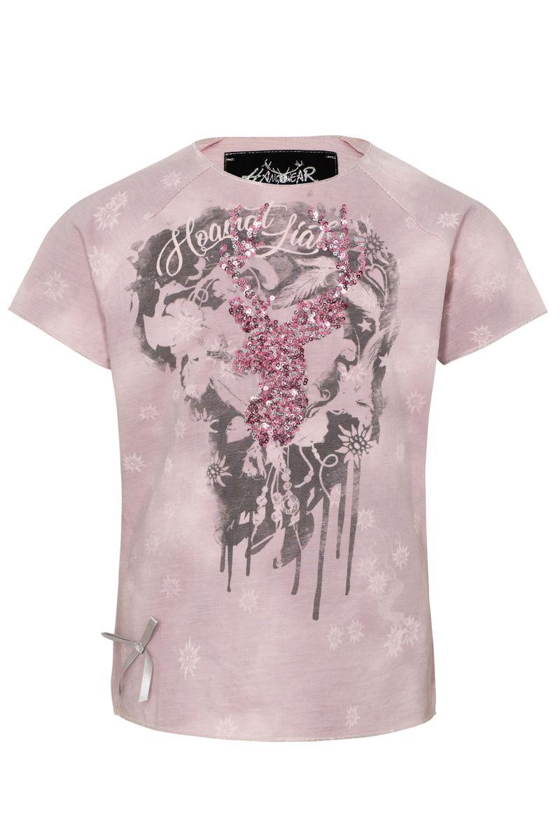 Hangowear Trachtenshirt Kindershirt rosa Mädl Power T-Shirt Gr 98 - 152