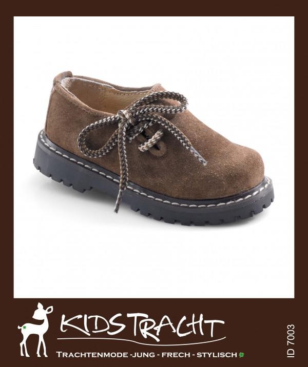 Maddox Kinder- Schuh Haferlschuh hellbraun / velour  Gr. 20 - 39