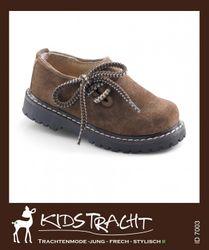 Maddox Kinder- Schuh Haferlschuh hellbraun / velour  Gr. 20 - 39 001