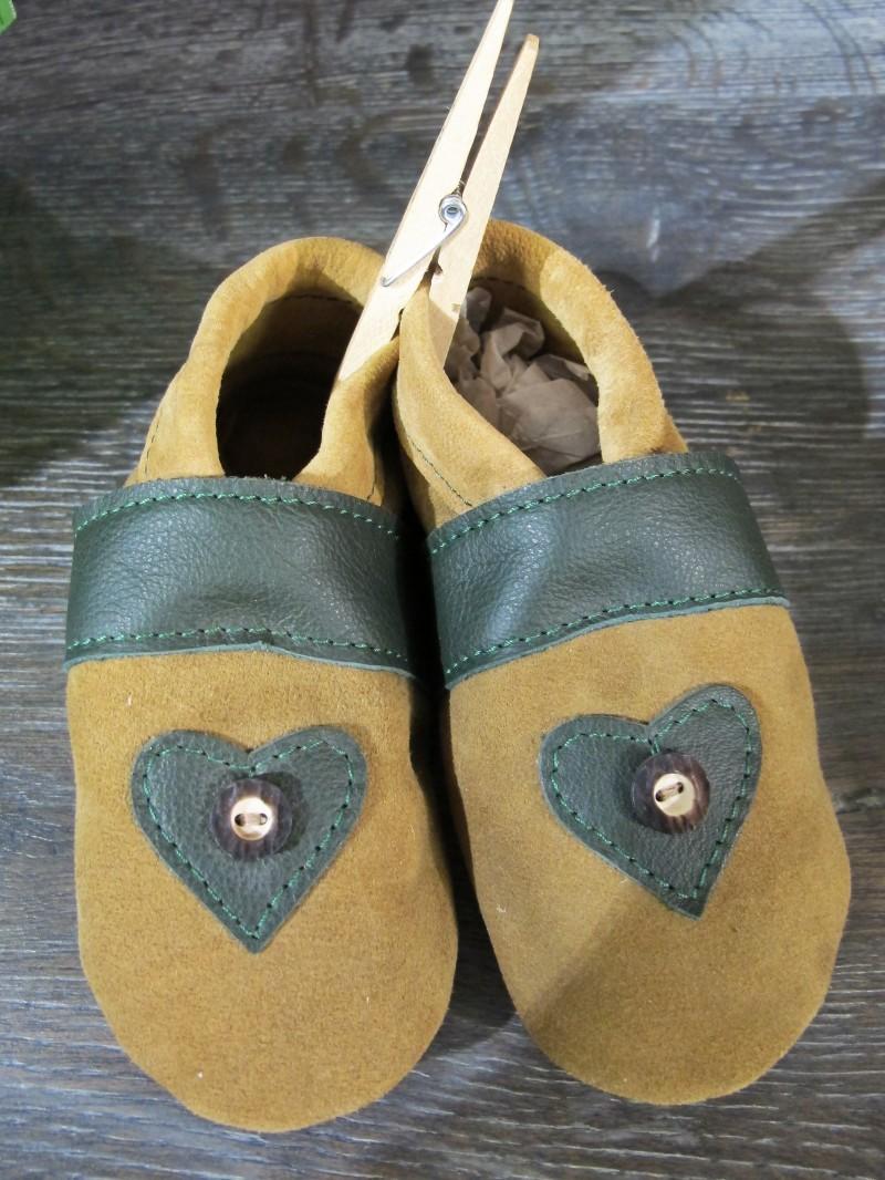 Trachtenschuhe Lederpuschen Schuhe grün mit Edelweiß Gr. 15 - 23 zur Lederhose – Bild 8