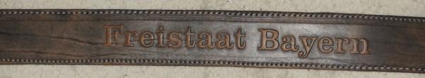 Gürtel Trachtengürtel braun Tracht Freistaat Bayern Prägung – Bild 2