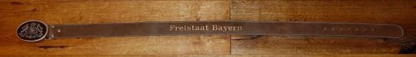 Gürtel Trachtengürtel braun Tracht Freistaat Bayern Prägung – Bild 4