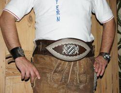 Schlauchranzen Trachtengürtel braun Tracht Bauchgurt Bauchranzen 90 - 120 cm 001