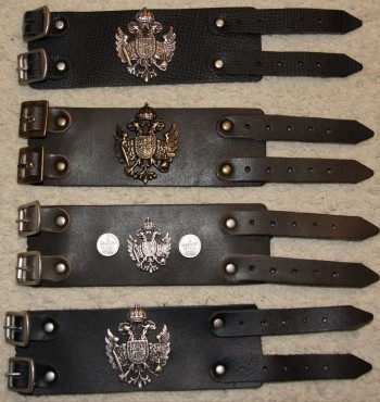 Armband Leder Lederarmband braun schwarz zur Lederhose Bayern schmal – Bild 5