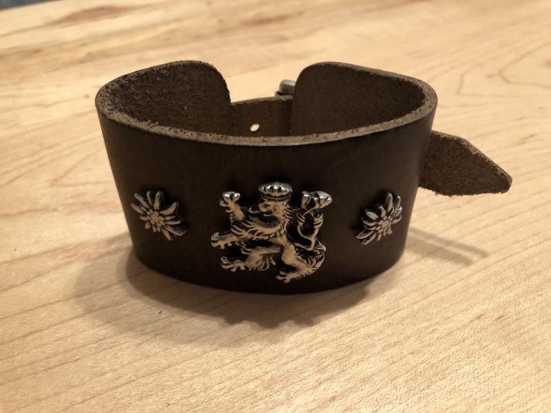 Armband Leder Lederarmband braun schwarz zur Lederhose Bayern schmal – Bild 3