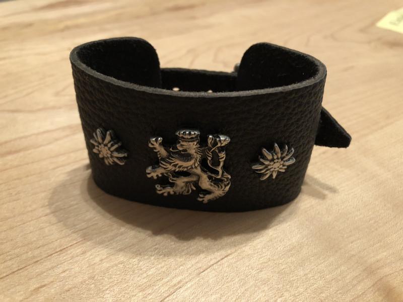 Armband Leder Lederarmband braun schwarz zur Lederhose Bayern schmal – Bild 2