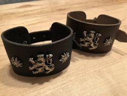 Armband Leder Lederarmband braun schwarz zur Lederhose Bayern schmal 001