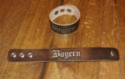 Armband Leder Lederarmband braun zur Lederhose Bayern schmal 001