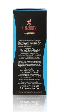 Caffé A. Nannini | Decaffeinato | Nespresso*-kompatible Kapsel | 25 Stück