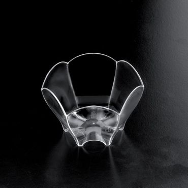 Transparent Plastic Tulip Dessert Bowl (Pack of 25)