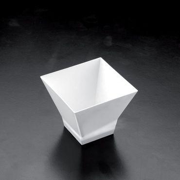 White 60ml Plastic Pagoda Dessert Bowl (Pack of 25)