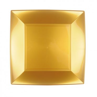 Gold Plastic Plate (Pack of 12)