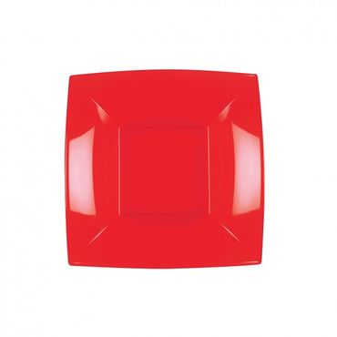 China Red Plastic Dish (Pack of 25)