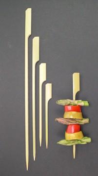 9cm Bamboo Paddle Skewer Sticks x 100