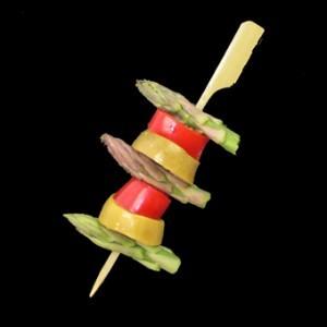 9cm Bamboo Paddle Skewer Sticks x 100 – image 3