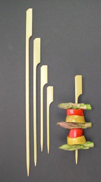 18cm Bamboo Paddle Skewer Sticks x 100