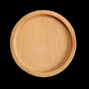 Round Bamboo Mini Plates x 12 – image 2