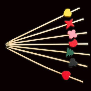 12cm Shapes Skewer x 100 – image 1