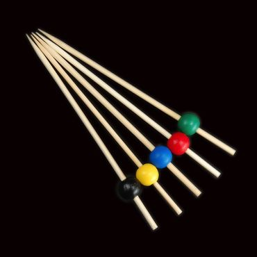 12cm Colour Ball Skewers x 100