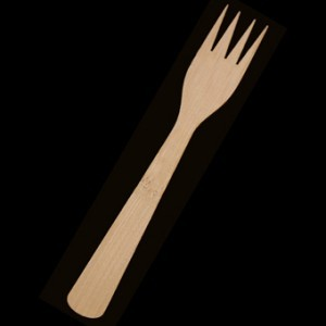 15cm Bamboo Fork x 100 – image 1