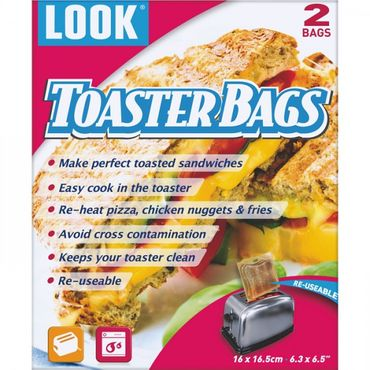 LOOK Reusable Toaster Bags x 2