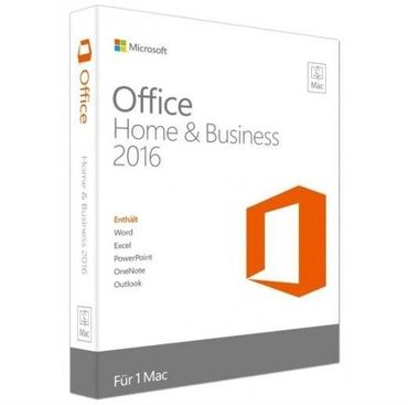 MAC • Ms Office 2016 Home & Business • DE & Multilingua • Vollversion • Produkt Key