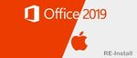 Microsoft Office 2019 Home & Business • MAC • RE-Install • 1PC • DE & Multilingual 001