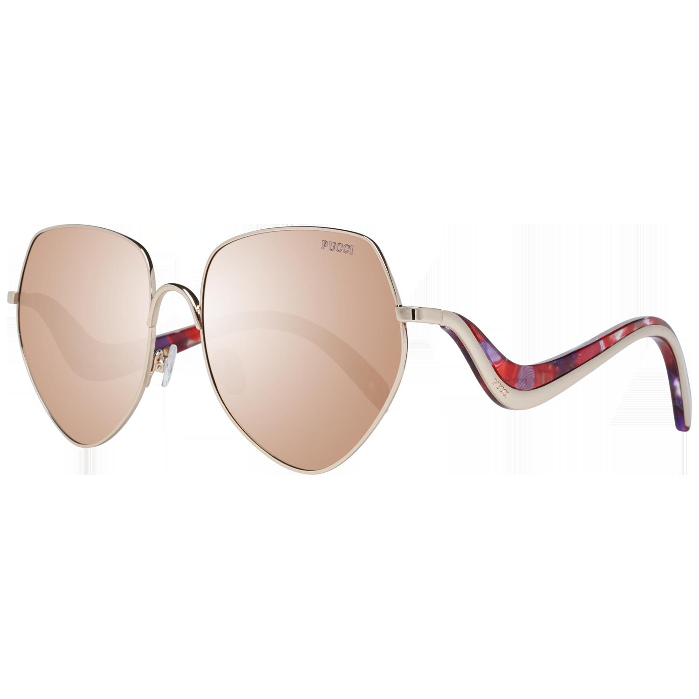 Emilio Pucci Sunglasses EP0119 28F 59 Gold