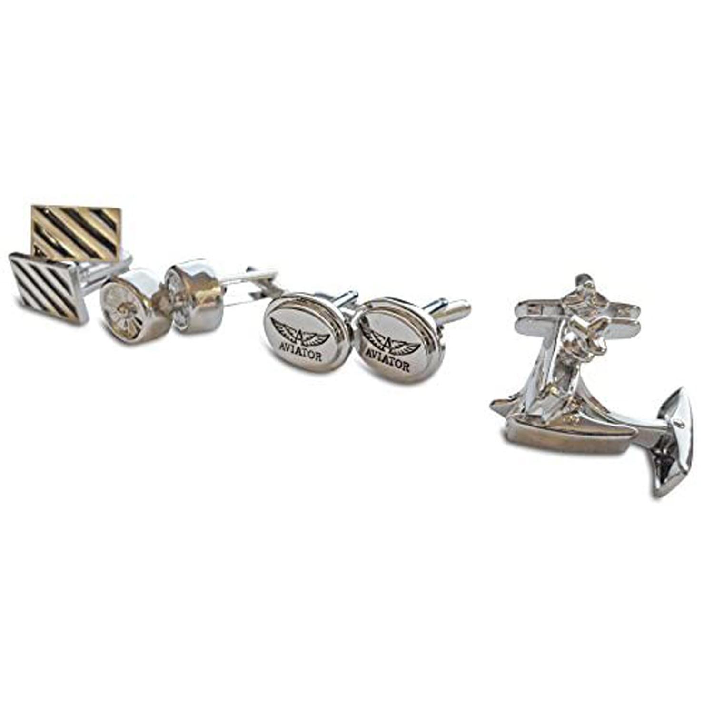Aviator Jewellery Set AVJ3816 Silver