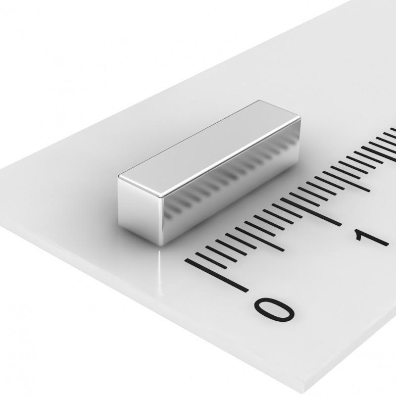 Quadermagnet 15x4x4 mm Neodym bis 100°C