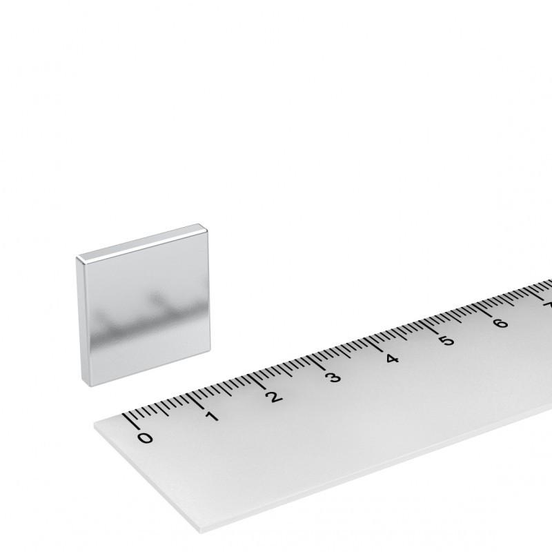 Quadermagnet 20x20x3 mm Neodym