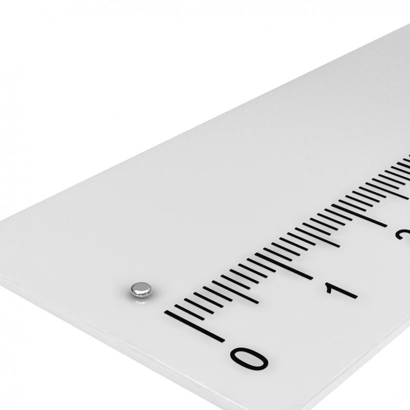 Scheibenmagnet 1.5x0.5 mm Neodym