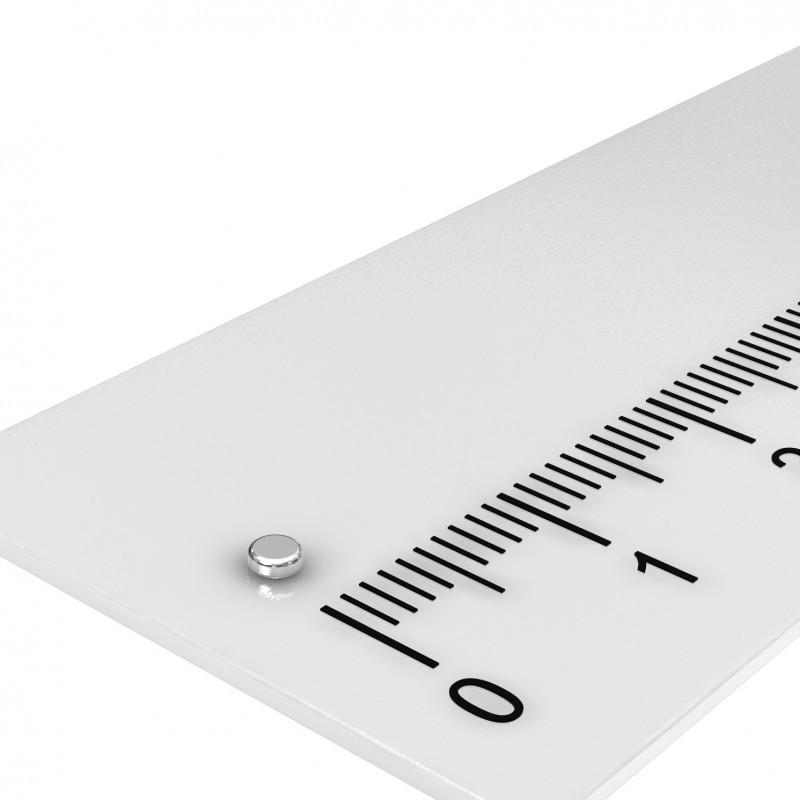 Scheibenmagnet 2x0.8 mm Neodym bis 120°C