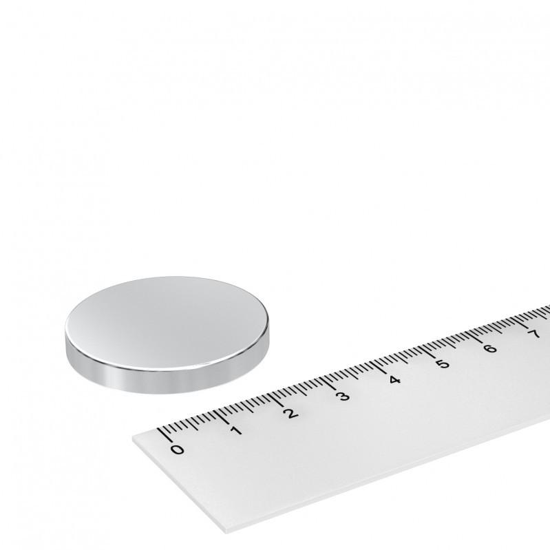 Grade N42 Neodym Scheibenmagnet 35x5mm vernickelt
