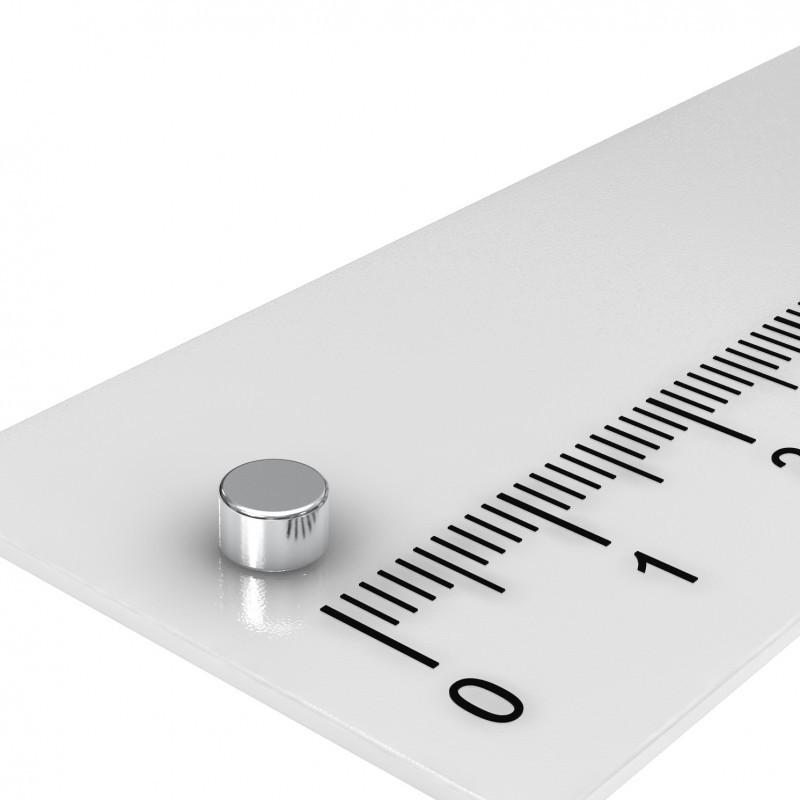 Scheibenmagnet 4x2.5 mm Neodym bis 120°C