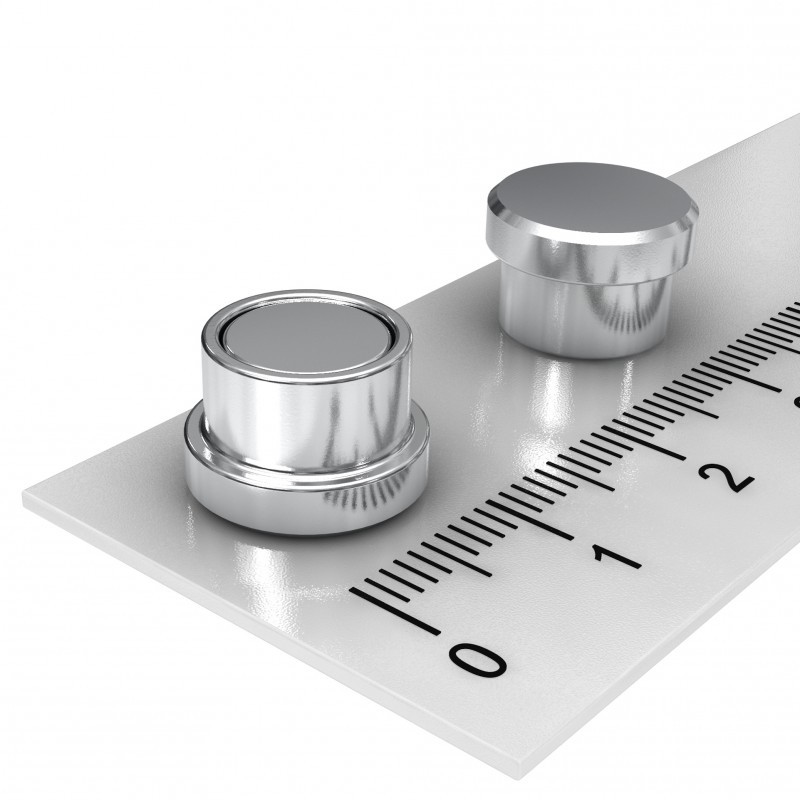 Stainless Steel Office Magnet 12x8 mm for Pin Board