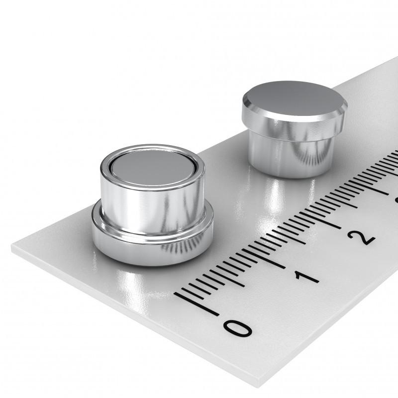 Edelstahl Büromagnet 12x8 mm für Pinnwand