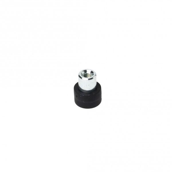 Gummiertes Magnetsystem 12x7 mm mit Buchse und Innengewinde M4