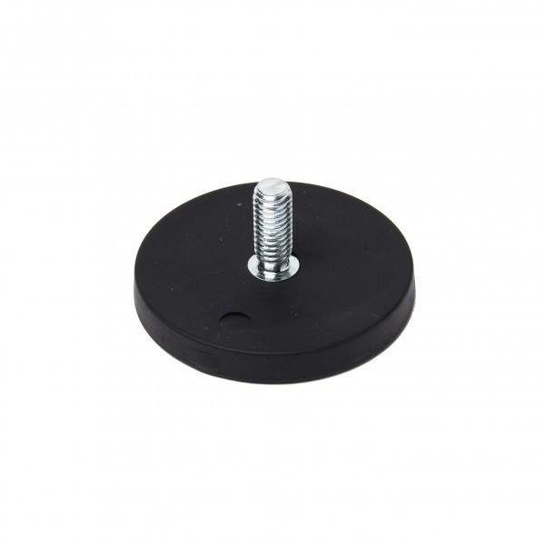 Magnetsystem 43x6 mm gummiert mit Außengewinde M6