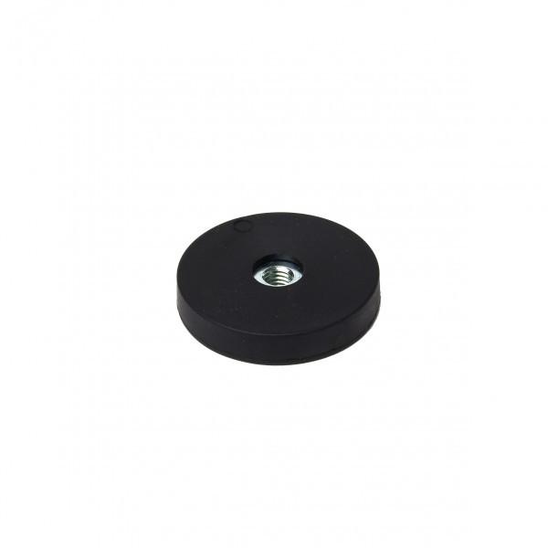Gummiertes Magnetsystem 31x6 mm mit Innengewinde M5