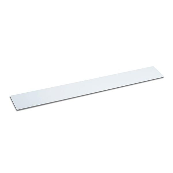 Barra metallica autoadesiva, colore: bianco, 500x40 mm