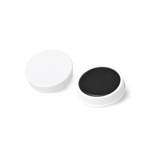 Organization magnet made of hard ferrite, 30x8 mm, synthetic housing, white