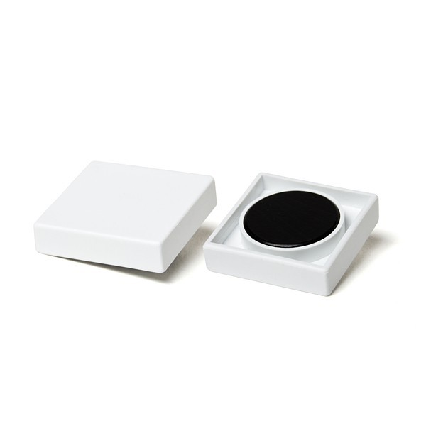 Square organization magnet made of hard ferrite 35x35x9 mm synthetic housing square