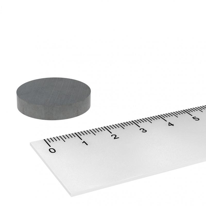 Scheibenmagnet 25x5 mm Ferrit