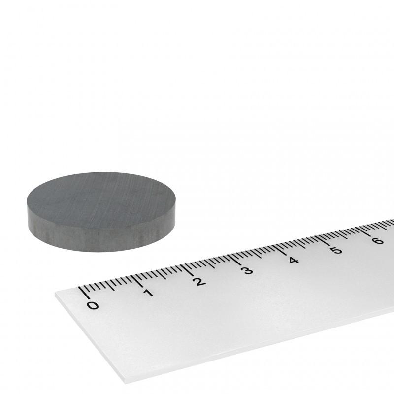 30x5 mm ferrite magnet, up to 250°C